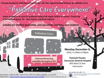 "We are excited to present ""Palliative Care Everywhere"" on Dec 8, 2014!"